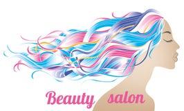 Manifesto del salone di bellezza illustrazione vettoriale