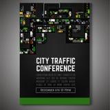 Manifesto del traffico cittadino Fotografia Stock