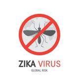 Manifesto del virus di Zica illustrazione di stock