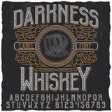Manifesto del whiskey di oscurità Fotografia Stock Libera da Diritti