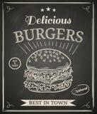 Manifesto dell'hamburger Fotografie Stock Libere da Diritti