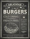 Manifesto dell'hamburger Fotografia Stock