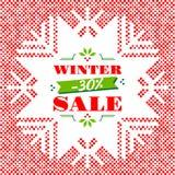 Manifesto dell'insegna del fondo di vendita di inverno illustrazione di stock