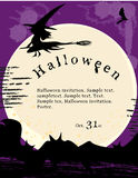 Manifesto dell'invito di Halloween. Fotografie Stock