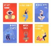 Manifesto dell'invito dell'insegna della carta di festival di musica di colore royalty illustrazione gratis