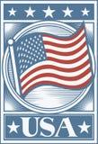 Manifesto della bandiera americana Fotografia Stock Libera da Diritti