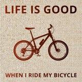 Manifesto della bicicletta della montagna Fotografia Stock Libera da Diritti