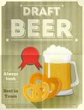 Manifesto della birra Fotografia Stock