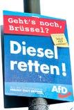 Manifesto della campagna politica di AFD immagine stock