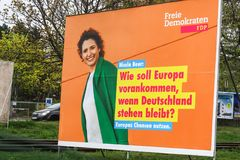 Manifesto della campagna politica di FDP immagini stock