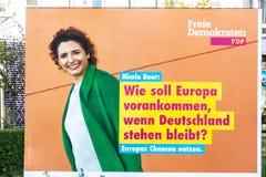 Manifesto della campagna politica di FDP immagine stock