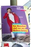 Manifesto della campagna politica di FDP fotografie stock libere da diritti