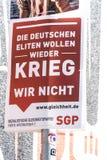 Manifesto della campagna politica di SGP fotografia stock