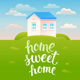 Manifesto della casa dolce casa di vettore Immagine Stock
