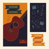 Manifesto della chitarra Fotografie Stock Libere da Diritti