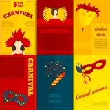 Manifesto della composizione nelle icone di carnevale Fotografie Stock