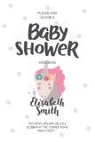 Manifesto della doccia di bambino Fotografie Stock Libere da Diritti