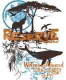 Manifesto della fauna selvatica illustrazione di stock