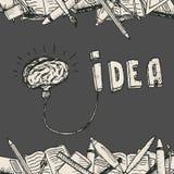 Manifesto della lampada del cervello Immagini Stock Libere da Diritti