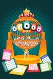 Manifesto della partita notturna di bingo Illustrazione di Stock