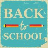 Manifesto della scuola Fotografia Stock Libera da Diritti