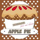 Manifesto della torta di mele Fotografie Stock Libere da Diritti