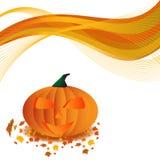 Manifesto della zucca di Halloween Fotografia Stock Libera da Diritti