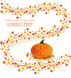 Manifesto della zucca di Halloween Immagini Stock