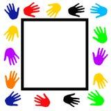 Manifesto delle mani amiche illustrazione di stock
