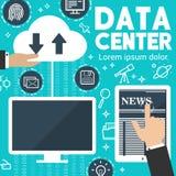 Manifesto dello scambio dei dati digitale di notizie di Internet di vettore illustrazione vettoriale