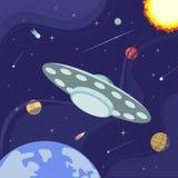 Manifesto dello spazio cosmico illustrazione di stock