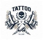 Manifesto dello studio del tatuaggio Fotografia Stock Libera da Diritti