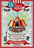 Manifesto di annuncio di festival del circo retro royalty illustrazione gratis