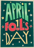 1 manifesto di April Fools Day Fotografie Stock