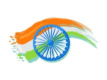 Manifesto di 15 August Indian Independence Day Greeting illustrazione di stock