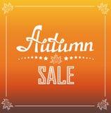 Manifesto di Autumn Sale Royalty Illustrazione gratis