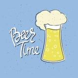 Manifesto di Beerfest con il ` scritto a mano di tempo della birra del ` di citazione Immagini Stock Libere da Diritti