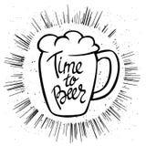 Manifesto di Beerfest con tempo scritto a mano del ` di citazione al ` della birra Fotografia Stock