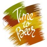 Manifesto di Beerfest con tempo scritto a mano del ` di citazione al ` della birra Fotografie Stock Libere da Diritti