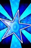 Manifesto di burst della stella blu Immagini Stock