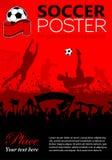 Manifesto di calcio Fotografia Stock Libera da Diritti