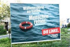 Manifesto di campagna elettorale del dado Linke, partito politico tedesco immagini stock