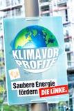 Manifesto di campagna elettorale del dado Linke, partito politico tedesco immagine stock