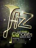 Manifesto di concerto di jazz Fotografia Stock