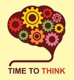 Manifesto di concetto di idea del cervello, tempo di pensare Fotografie Stock Libere da Diritti