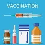Manifesto di concetto di vaccinazione Fotografia Stock