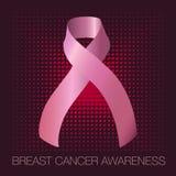 Manifesto di consapevolezza del cancro al seno Fotografia Stock Libera da Diritti