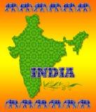Manifesto di corsa dell'India Fotografie Stock