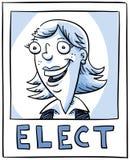 Manifesto di elezione Immagine Stock