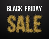 Manifesto di esplosione dell'oro di vendita di Black Friday Black Friday Blackwork Illustrazione di Stock